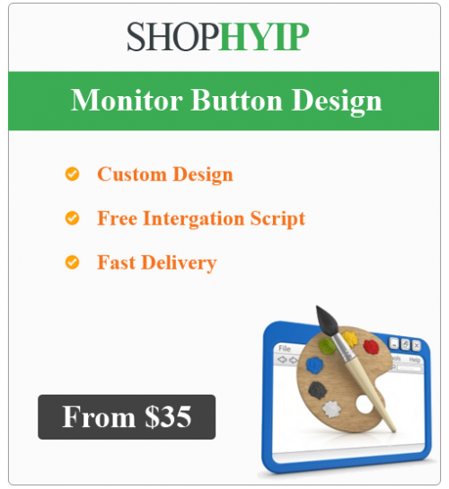 HYIP Monitor Button Design